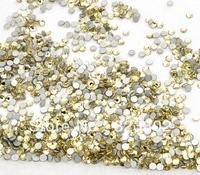 2 MM Millimetre 1440 PCS Jonquil Yellow Flatback Glass Rhinestone Buttons for Nail Art Decoration -1440PCS