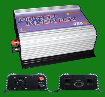 300W solar grid tie inverter, Input 10.8V~30VDC/22V~60VDC,Output 90V~130VAC/190V~260VAC, Solar powr on grid inverter 300W