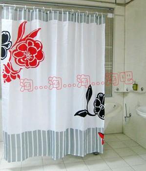 E HOME Quality waterproof enzyme shower curtain terylene bathroom curtain thickening 180 200 belt line JU