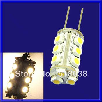 A25 Free Shipping 10pcs/lot G4 1.2W 15 SMD 3528 LED Light 3200K Warm/pure white Bulb Lamp DC 12V