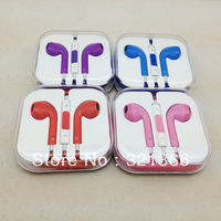 DHL  600pcs colourful High quality In-Ear Earphone For IPhone 5 Volume Remote Control EarPods Headphone Headset  Pink