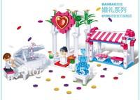 Original Box Banbao Wedding Happiness Door 6106 Girl Building Block Sets 328pcs Educational Bricks toys for children