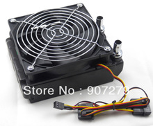 120mm copper water cooling radiator intensive fins with cooling fan and barb fittings(China (Mainland))
