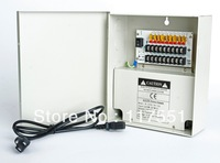 new VideoSecu 9Output 12 V DC CCTV Distributed Power Supply Box for Security Camera with lock10a ptc