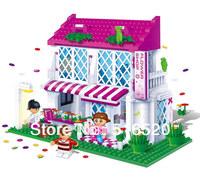 Original Box Banbao Wedding Flowers Kingdom 6102 Girl Building Block Sets 425pcs Educational Bricks toys for children