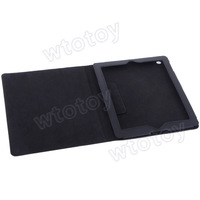 Leather Case Pouch Skin Cover Stand Holder Black For iPad 2  10150