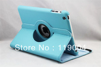 7pcs/lot  Free shipping New Ultra Stylish 360 Degrees Rotating Stand Magnetic Cover Leather Case For ipad 2 / 3 / 4