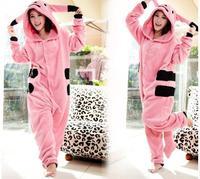 Pink Pokemon Pikachu Cartoon Adult Cute Animal Japan Cosplay Costume Pajamas Sleepsuit Couplies Halloween Chrismas Party