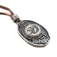 New 2013 Leather pendants necklaces,men boy's love charm choker Punk 1978 pendant Genuine leather ,men jewelry,handmade jewelry