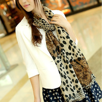 Super soft velvet chiffon big leopard print silk scarf georgette summer sunscreen beach towel leopard print scarf