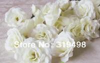 100 pcs High Quality Artificial Simulation Silk Blossom Camellia Peony  Flower Head Wedding 8cm  4 Colors Diy Brooch Headwear