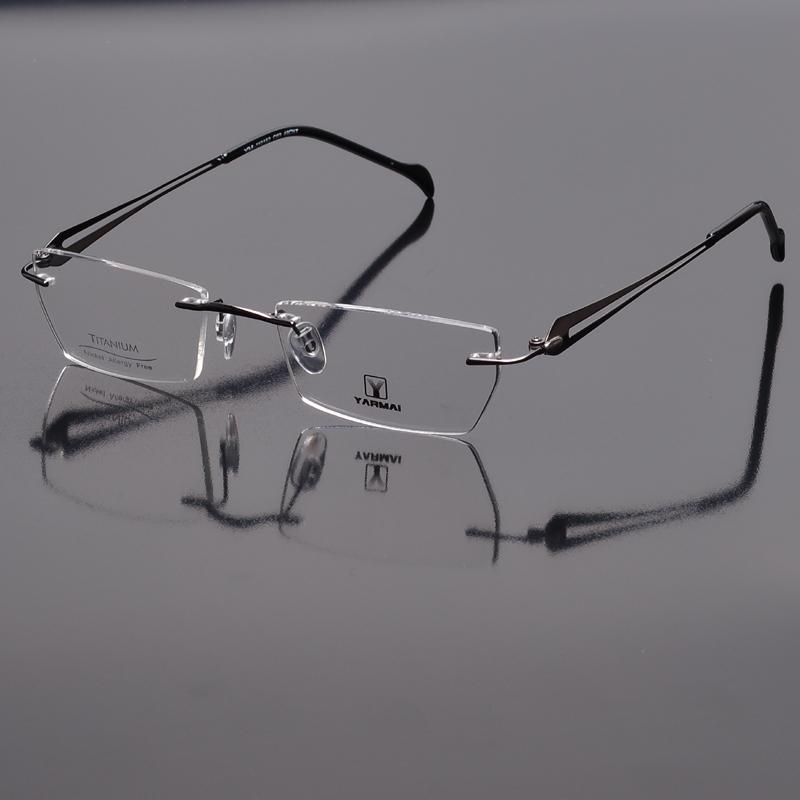 Expensive Designer Eyeglass Frames : (110513) 2013 latest rimless titanium light men eyeglasses ...
