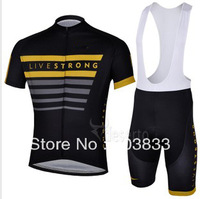 2013  New Outdoor sports Tour De France Live Strong Team Cycling Jersey And Bib Shorts/cycling wear/Cycling Clothing