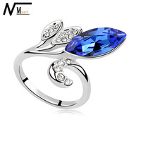 MT JEWELRY Free Shipping New Arrival 2013 Women For Simulated Diamond Crystal Ring