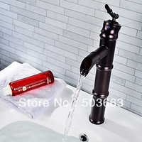 Contemporary Single Hole Oil Rubbed Bronze Single Hole Bathroom Faucet Sink Mixer Tap Basin Faucet Vanity faucet L-403