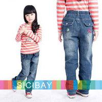 Children Fashion Jeans Fashion Jeans Free Shipping Girl Leisure Pants Kids Spring Wear K0357