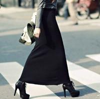 Fashion long skirt step skirt slim hip skirt bust summer elastic skirt