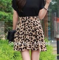 Free Shipping Summer Korean Tiger Leopard Elegant Skirt Hem Skirt 1 Colour Free Sizes