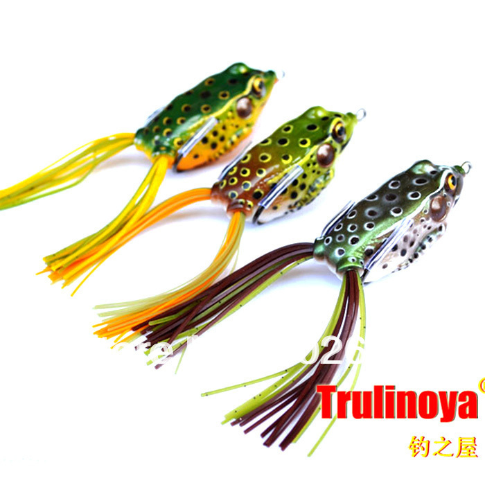 3X Snakehead Killer Soft Frogs Fishing Lures 55mm14g(China (Mainland))