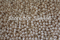 500x Wooden Craft Ball 7mm Natural Color 1057