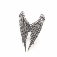 Min.order is $5 (mix order) RETRO PLATED *ANGEL WING* ADJUSTABLE RING Finger Ring Fashion Jewellery