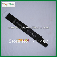 free shipping Rhinestone Black Bachelorette Party Satin Sash 5pcs/lot