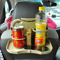 Multifunctional folding drink holder car back dining table folding car dish glass rack