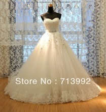 2013 new series Designer Real Ball Gown Puffy Wedding Dresses New Patterns R-358(China (Mainland))