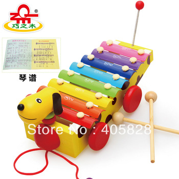 Wood child music teaching aids 8 small hand knocking piano wooden educational toys