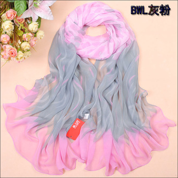 2013 fashion 2012 georgette silk scarf chiffon silk scarf plus size long design scarf summer sun scarf