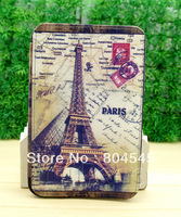 Retro  Eiffel Tower  Stand Leather Case Cover for Samsung Galaxy  Table pc P3100