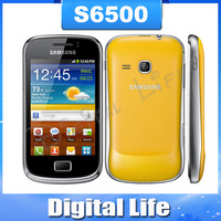 S6500 Original Samsung S6500 Galaxy mini 2 Android OS Touch Screen GPS 3G WIFI Jave Mobile Phone