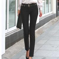 2013 spring formal pants slim suit pants black women's western-style trousers