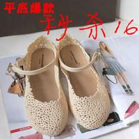 Flower cutout shoes flat heel strap plastic sandals rain boots jelly bird's-nest shoes crystal shoes women's shoes