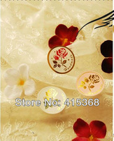 Free shpping! 900pcs  'Handmade' Gold Rose Seals/Stickers/DIY Tags, for Gift Muffins/Cakes/cookies/chocolates Boxes/Bags
