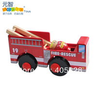 Wool fire truck belt lilliputian model child wooden car model toy