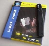 Factory price 180pcs/lots  LED Light wedge Panel Book Reading Lamp Paperback Night book Lightwedge 138g/pcs expess free shipping