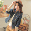 Freeshipping 2013 spring new arrival denim coat short jacket women long-sleeve denim outerwear female spring and autumn