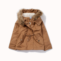 Children's clothing 2013 female child spring outerwear baby medium-long thin cotton-padded jacket casual wear child outerwear