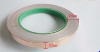 Freeshipping 10MM X 30M Single Conductive COPPER FOIL TAPE Strip