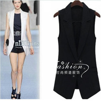 Free shipping fashion medium-long  slim suit vest
