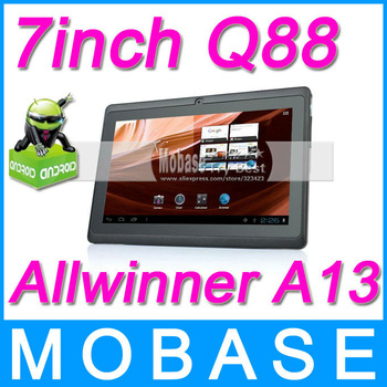 Q88 7inch Tablet PC Allwinner A13 Android 4.0 Capacitive Touch Screen 800*480 1.2GHz 512MB/4GB Webcam WiFi G-Sensor [ Cheapest ]