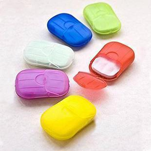 (Min order is $10) E7033 20 portable soap paper small soap film color carry(China (Mainland))