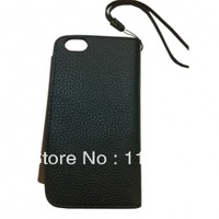 28PCS EMS Free shipping Case and Wallet Style Leather Case for ( Black)