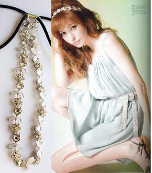 (Min order is $10) E6092 hair accessory sweet princess fashion small flower rhinestone hair band