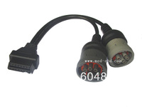 OBD2 Interface truck Y cable OBD2 16pin Female  to J1708 6pin female and J1939 9pin female
