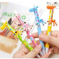 10pcs/lot Cute Kawaii Cartoon Deer Ballpoint Pens Lovely Ball Pen Korean Stationery School Supplies Gift Prize Free shipping 019