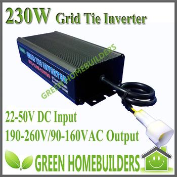 22-50V DC input , 230W  Waterproof Grid Tie Solar Power  Micro Inverter