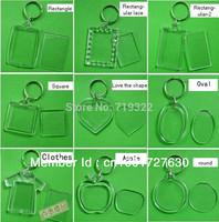 acrylic blank photo keychain keyring,diy yourself photo keychain,12 kinds pattern Wholesale - free shipping
