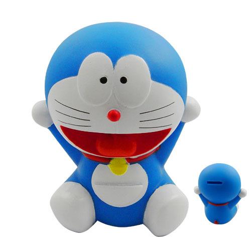 Doraemon small Coin Piggy Bank saving money box figure 12 cm new Japan Cartoon & Anime #B(China (Mainland))